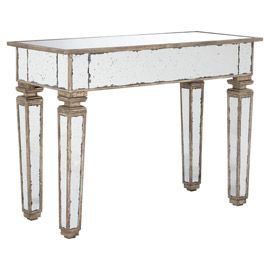 Exceptional Versailles Mirrored Console Table, Small