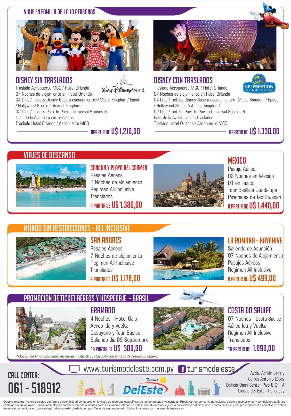 Flyer De Paquetes A Disney Turismo Del Este Pinterest Flyer - Disney flyer template