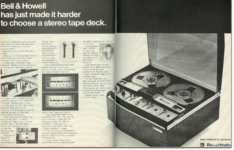 1968 Bell Howell Tape Recorder Ad