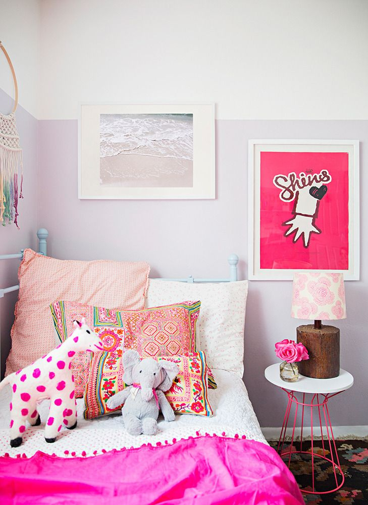 Pretty pops of pink. | http://domino.com
