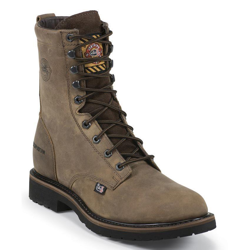 Waterproof Steel Toe Lace-Up Work Boots