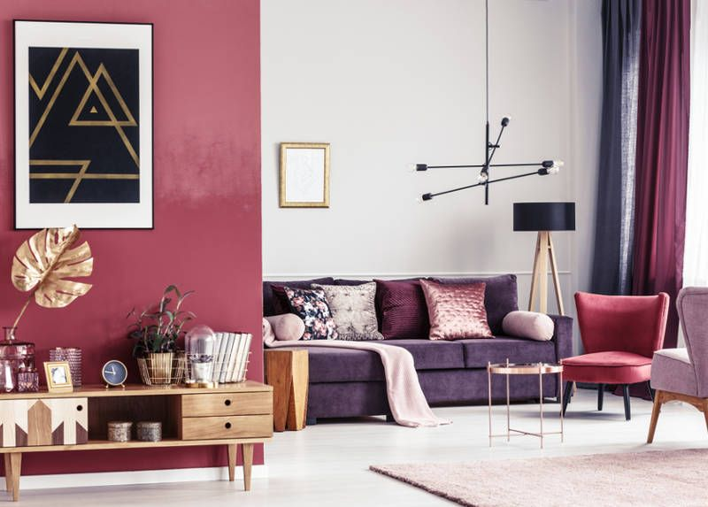 15 Ideas For Decorating With Purple For A Modern Space Purple Living Room Asian Paints Colour Shades Purple Decor