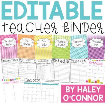 Editable Teacher Binder {Updated Through 2021} | Teacher