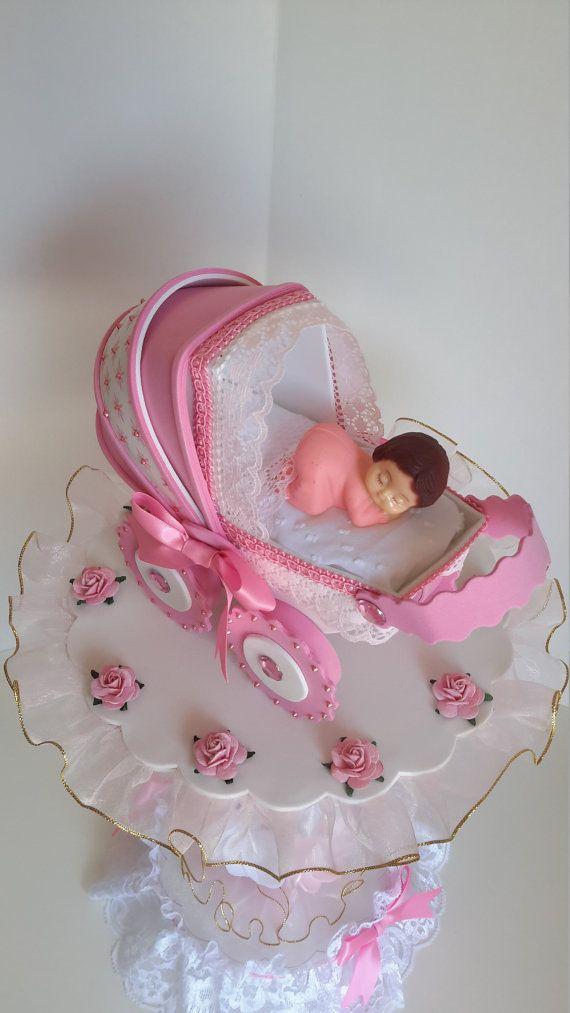Pink centerpiece for baby shower Craft