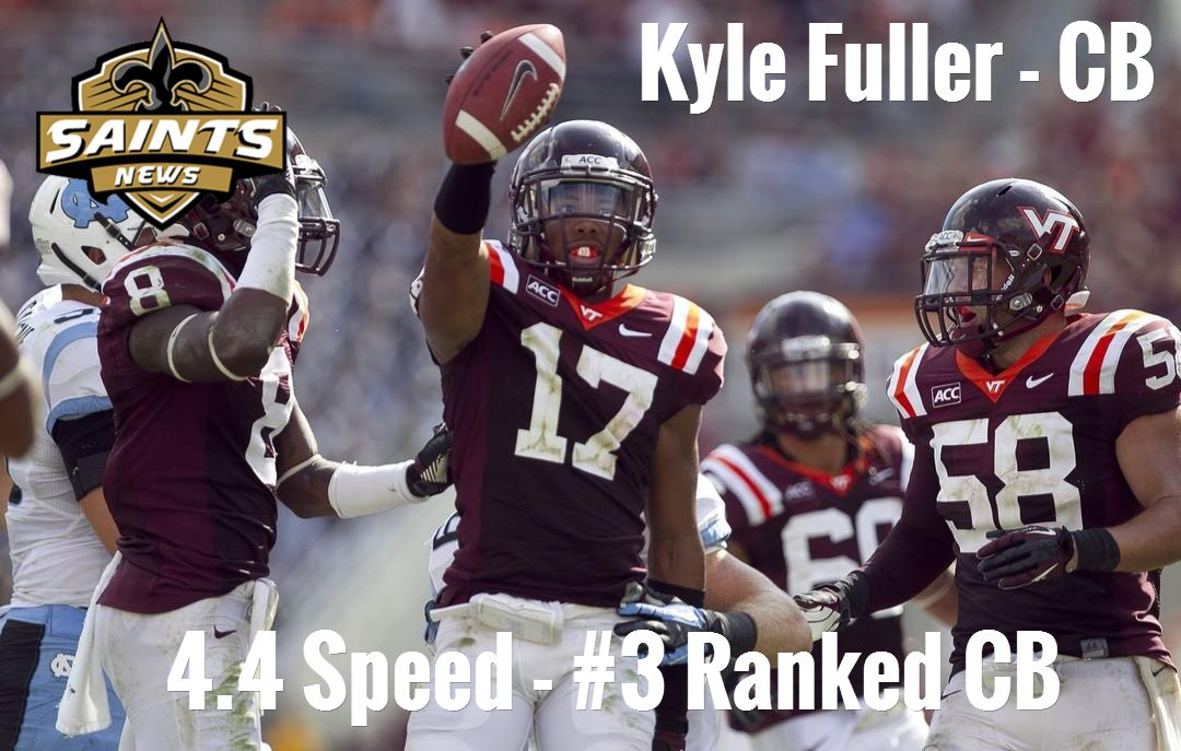 Saints Draft Prospect Kyle Fuller CB / 4.4 Speed 3