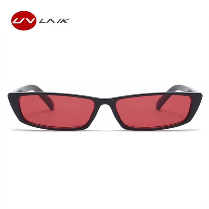 5068b0bf27 UVLAIK Retro Small Rectangle Sunglasses Women Men 2018 Fashion Clear Lens  Vintage Cat Eye for women