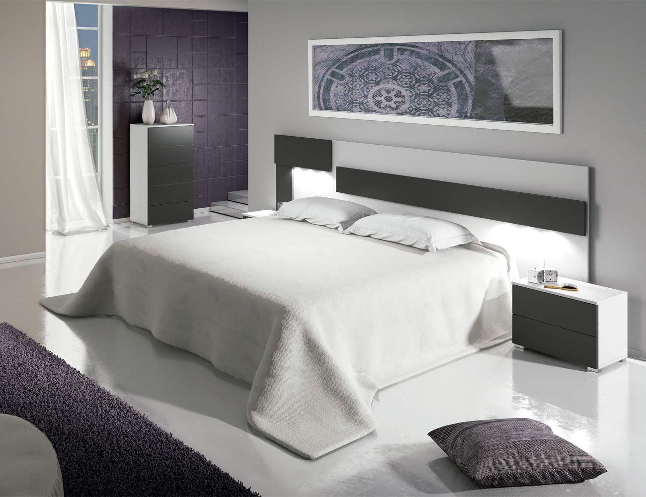 Dormitorio matrimonio moderno cabecero leds sinfonier for Dormitorios modernos