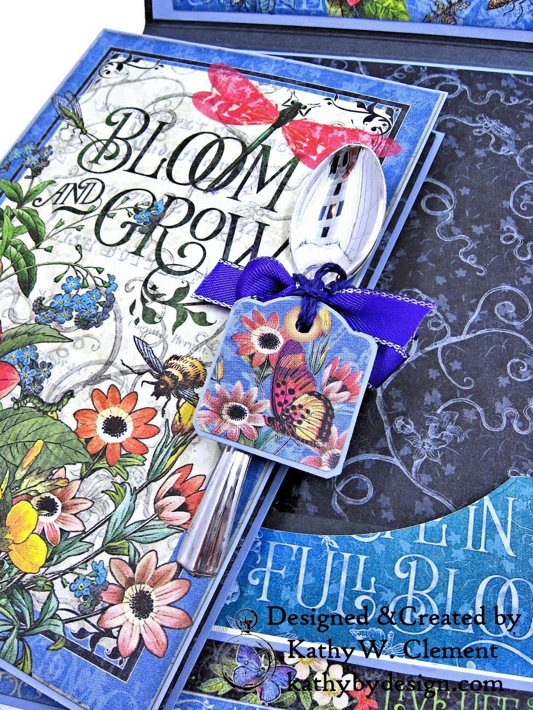 Flutter Full Bloom Card Folio | 45 paper | Graphic 45, Bloom, Cards