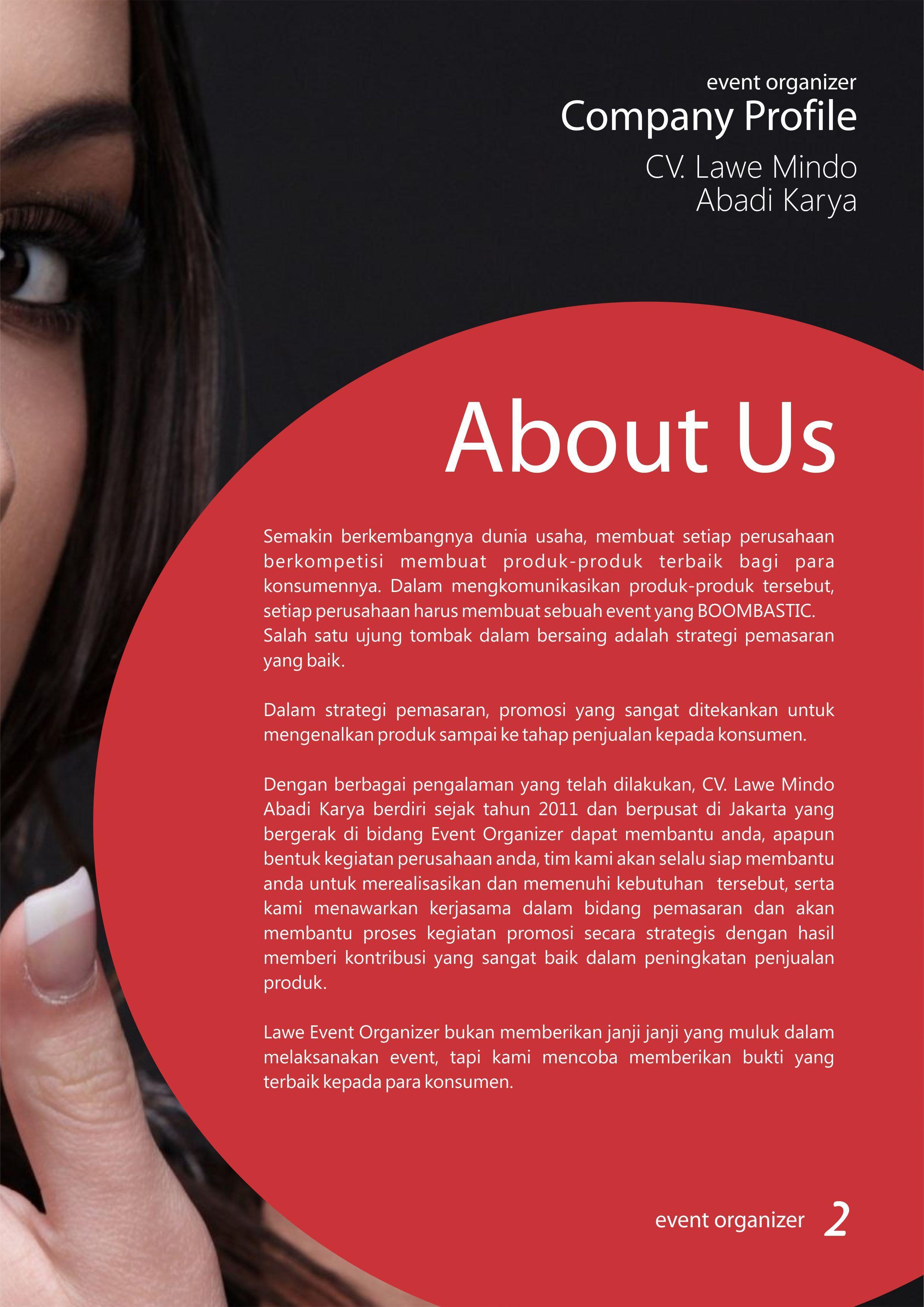 Halaman  Company Profile Event Organizer Ibu Lulu By Zannoism