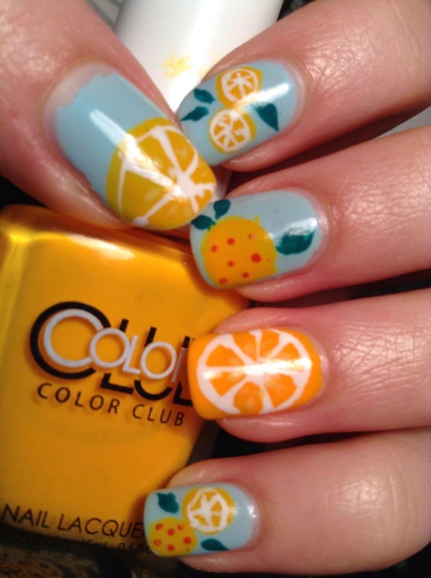 Orange citrus nail art my nail art pinterest orange citrus nail art prinsesfo Gallery