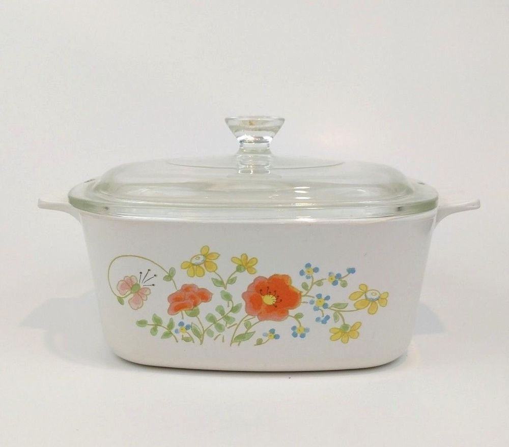 Corning Ware Wildflower 1 5l Casserole Pottery Glass Glass