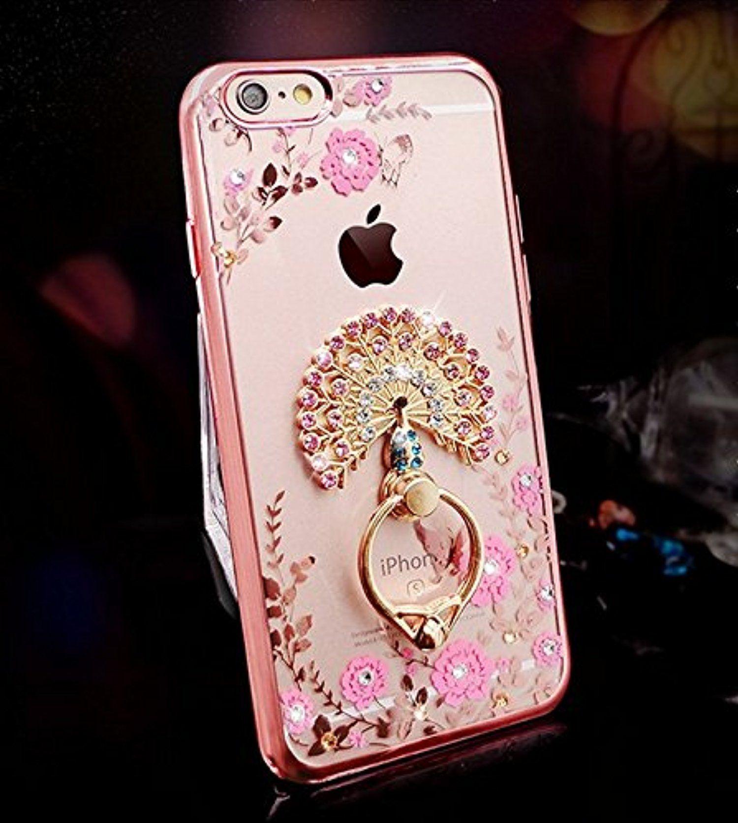 iPhone 7 Case, Soft Flexible Silicone Rose Gold Bumper