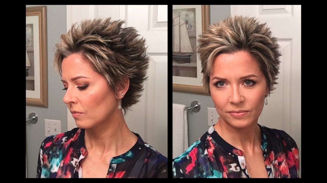 Hair tutorial styling idea for longer pixie youtube short hair