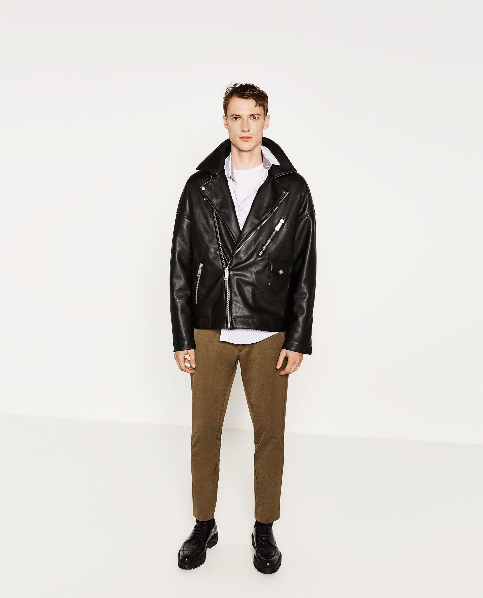 ZARA Oversized Biker Jacket Biker jacket, Jackets