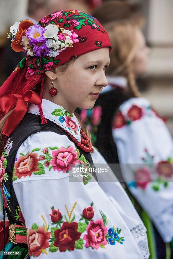 girl in traditional polish costumes during the celebrations of the corpus christi boze cialo - Halloween Stores In Corpus Christi
