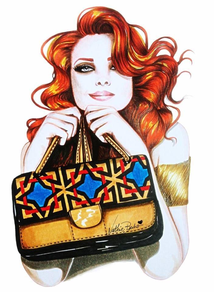 Viva o retrô!: Arte - A fashion illustrator Nathie Buho