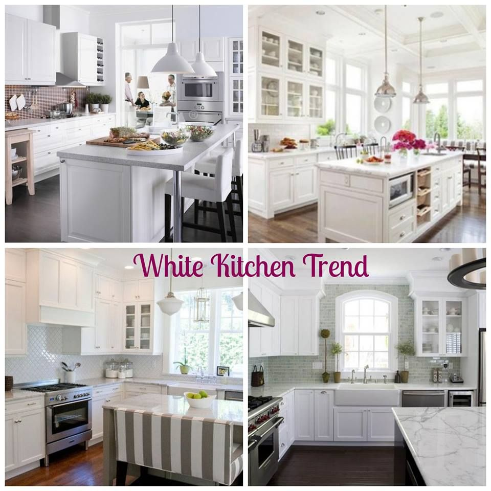 White Kitchens Are Trending Right Now. So Open And Bright! If You Like This