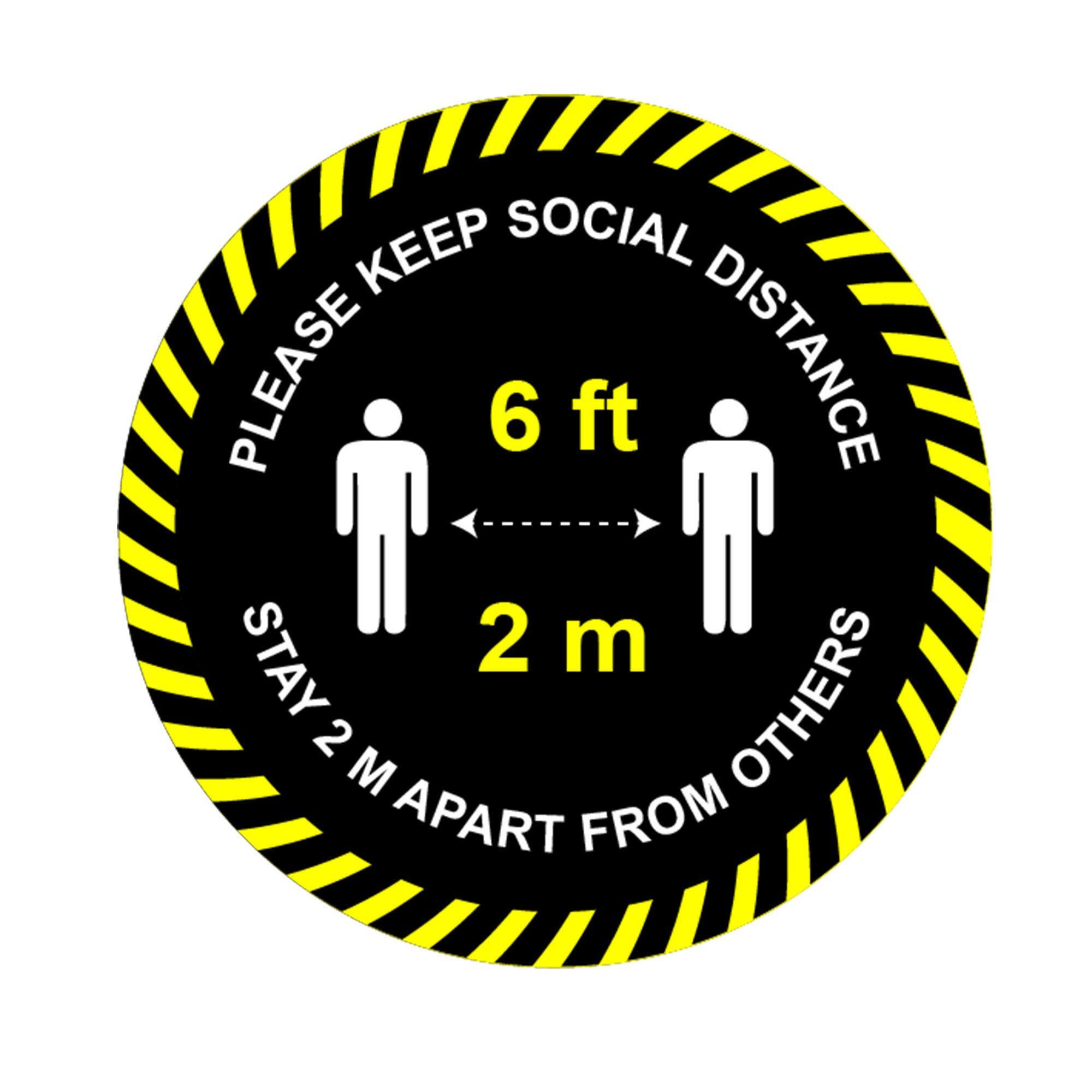 Please keep distance stickers Social distance Vinyl Circle