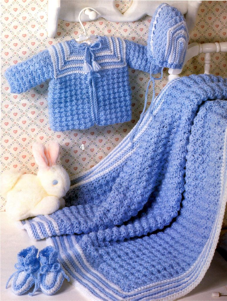 Crochet Layette Girl Free Pattern | Crochet Book, Layette Baby ...
