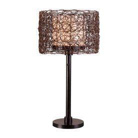 Kenroy Home Tanglewood 28-In Steel Plug-In Incandescent Outdoor Table Lamp 32219Brz