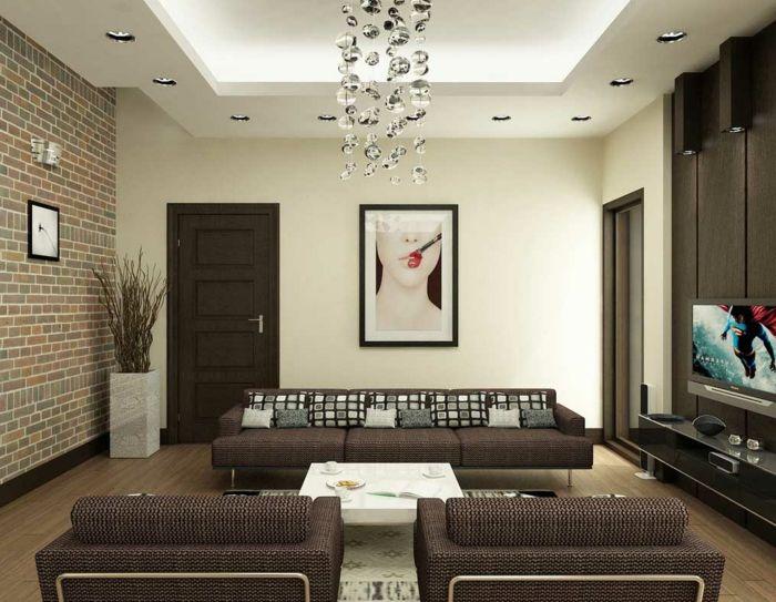 ▷ 1001 + Ideen für Steinwand Wohnzimmer zum Inspirieren Salons
