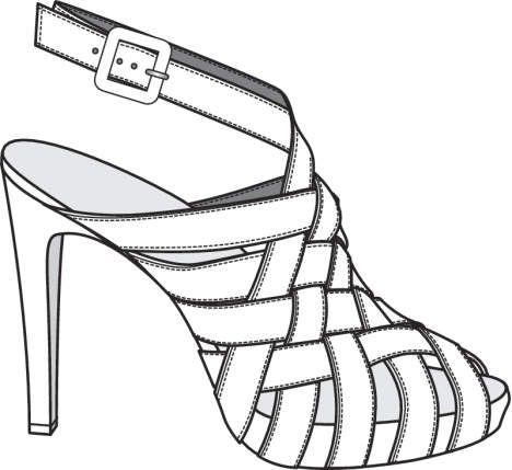 Key Items Goruntuler Ile Topuklular Moda Cizimleri Ayakkabilar