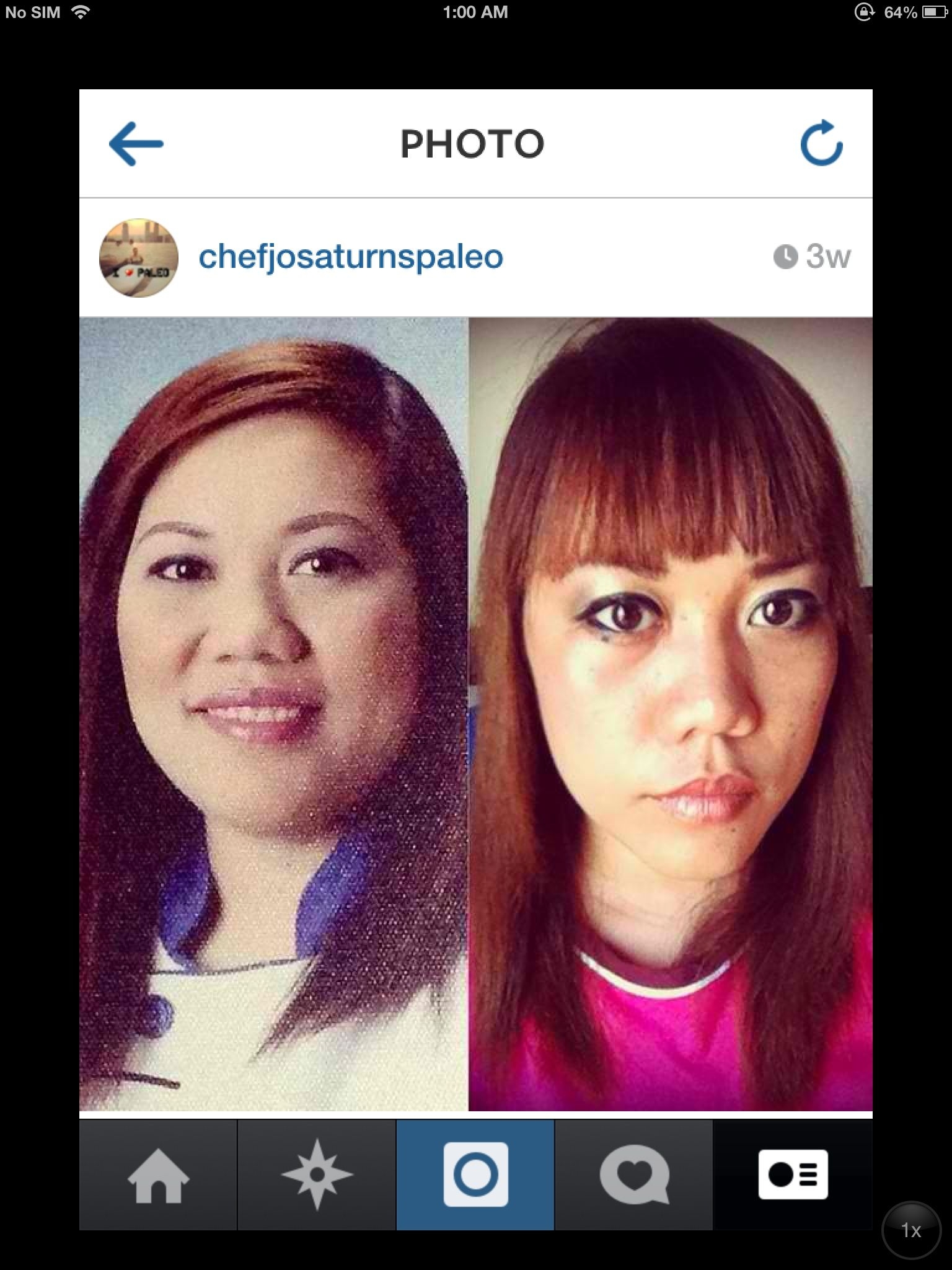 Hello fat face! Before was taken last February 2014 the right one was last June 2014 total transformation