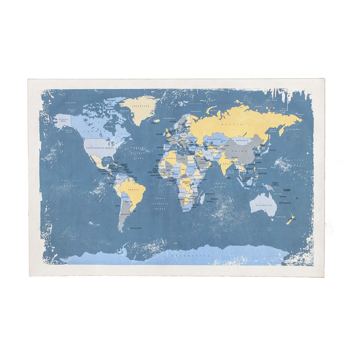Blue world map canvas 60x90cm the range for the home pinterest blue world map canvas 60x90cm the range gumiabroncs Choice Image