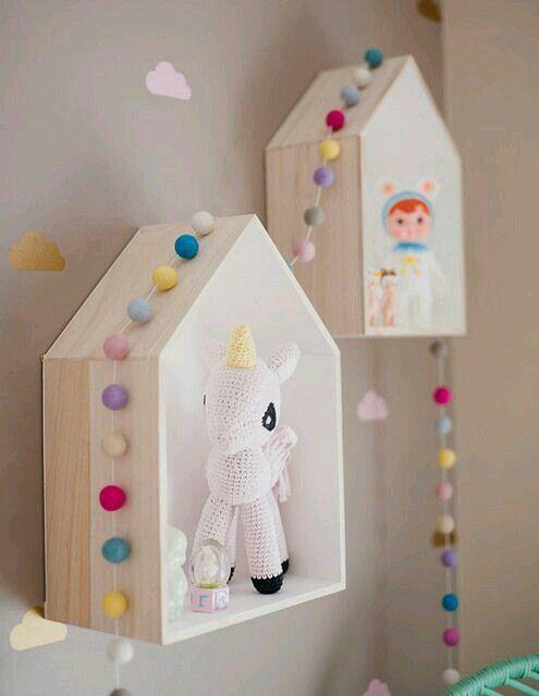 Haus- Regal | Kinderzimmer | Pinterest