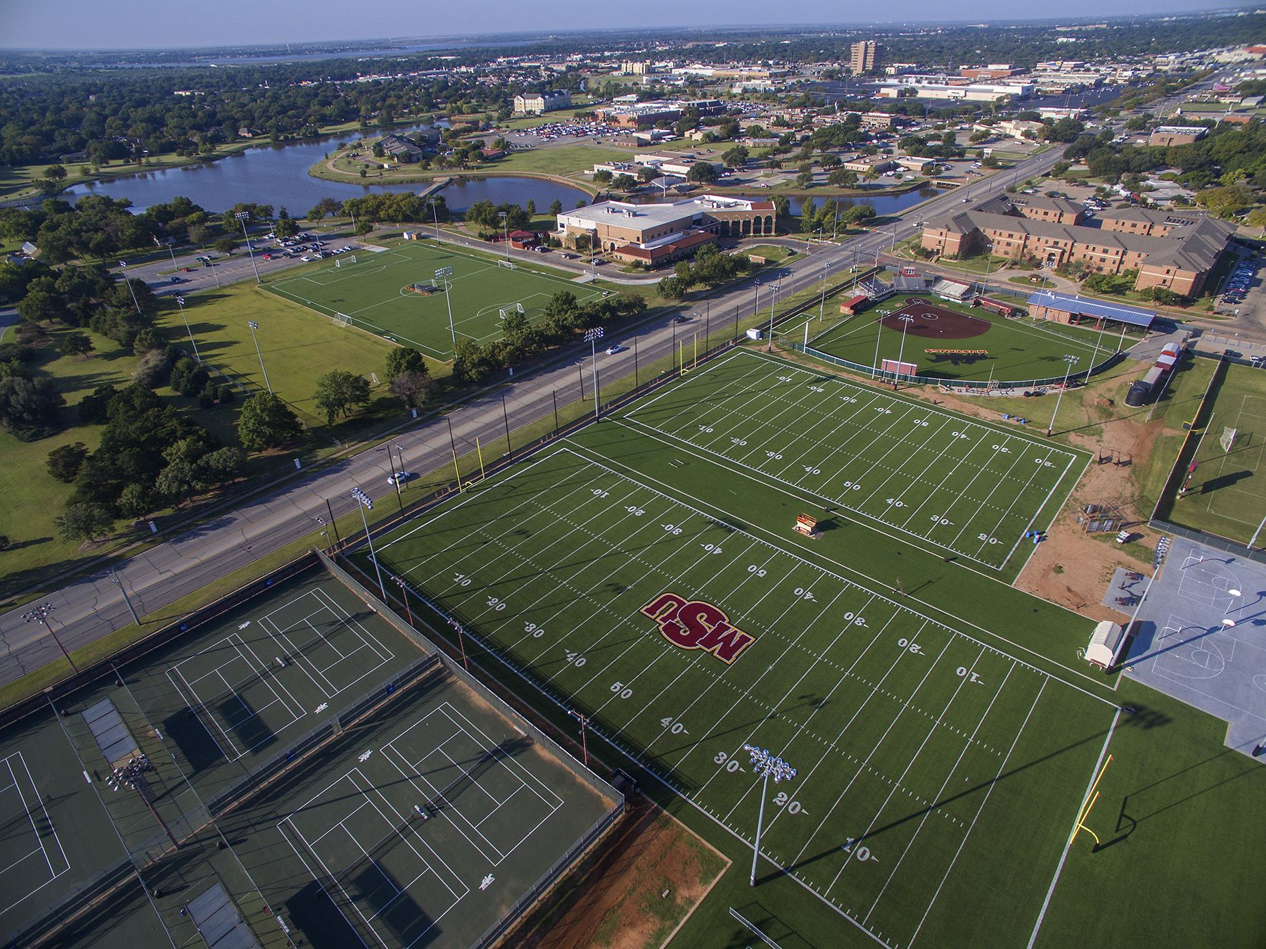The Midwestern State University Turf Fields Were Added To The Campus