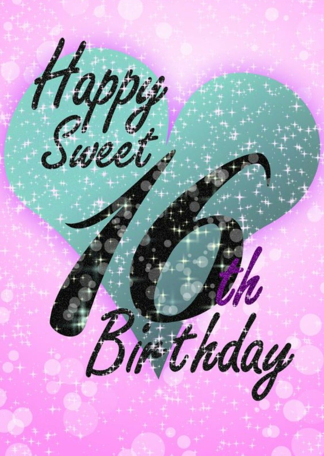 Happy Sweet 16th Birthday 16th Birthday Card 16th Birthday