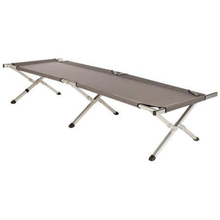 Kamp-Rite Military Style Folding Cot with Carry Bag, Gray