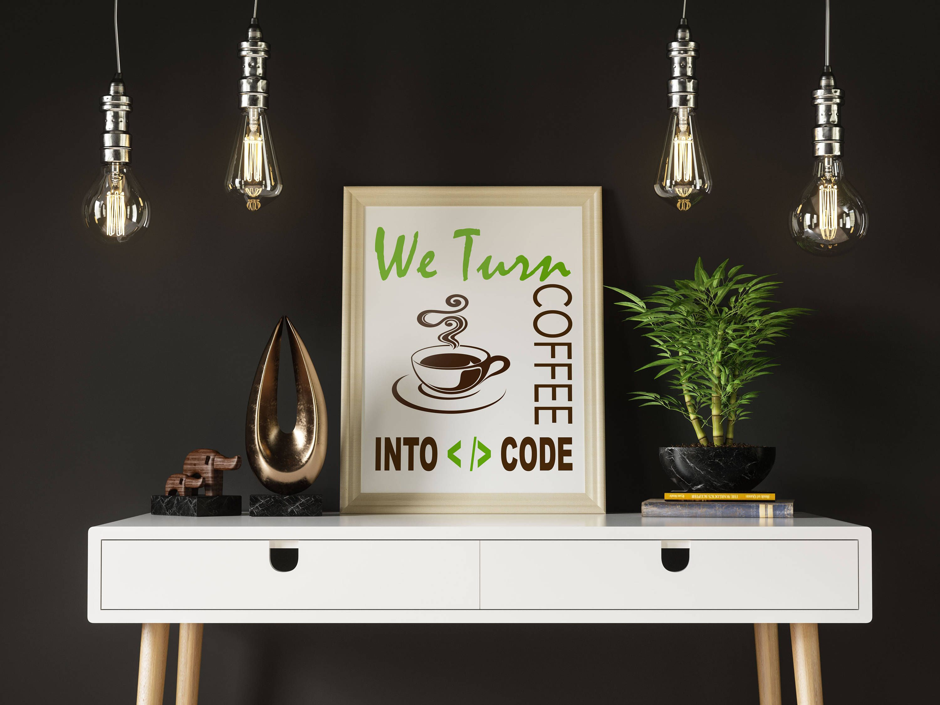 We turn coffee into code by creativemindds on etsy printables
