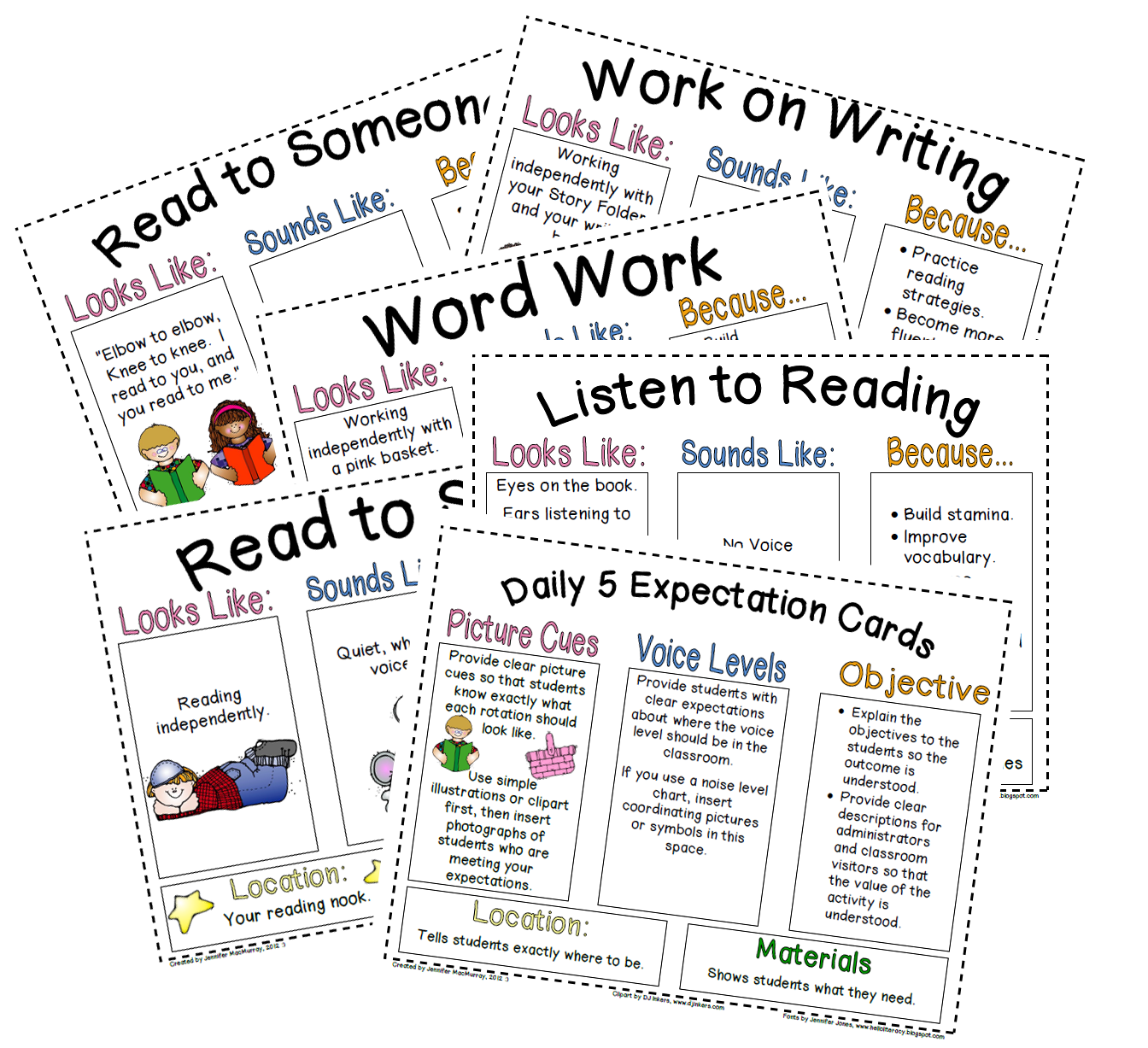 Ms Jennifer S Kin Kins Amp Looping Firsties Daily 5 Anchor Charts Amp Voice Levels Freebies