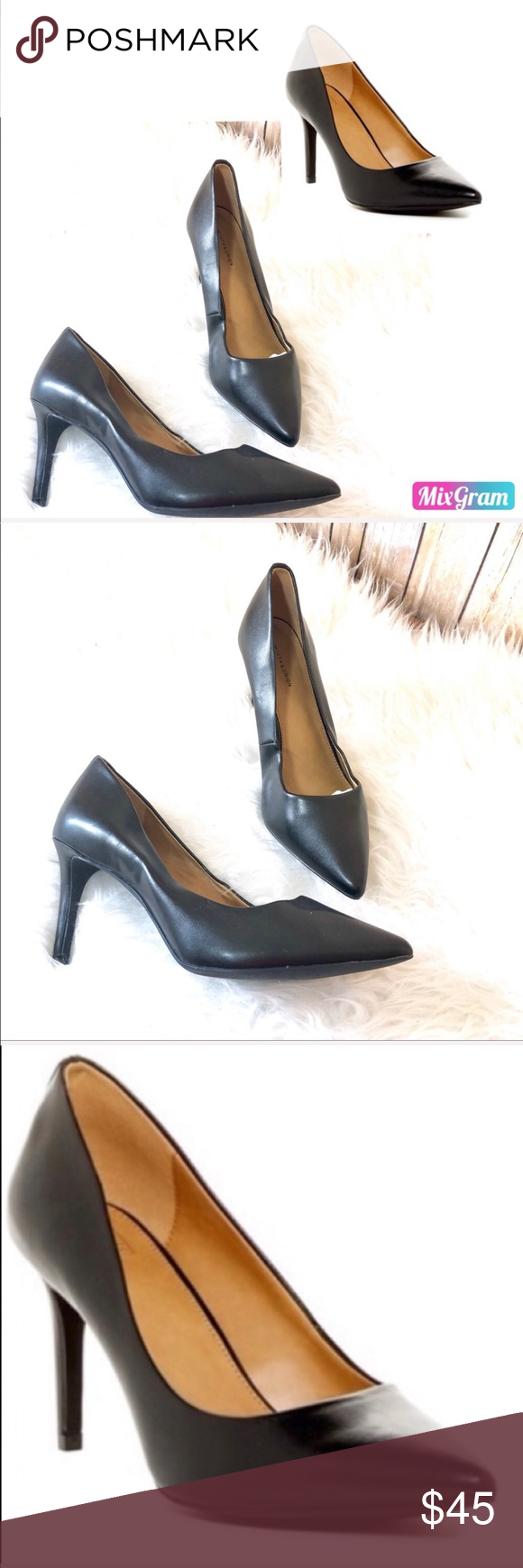 "37b55c059e38 14th   Union Maty Black pointed toe pump 7 Wide 14th   Union ""Maty""••  -size  7 WIDE (great width for pointy toe shoes"