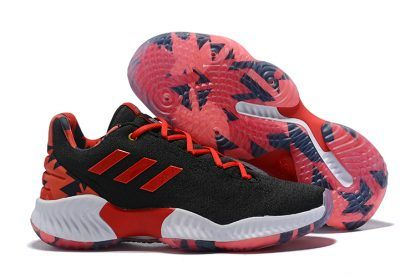 89494005683b1 adidas Pro Bounce Low 2018 Black University Red-White Men s Shoes-5