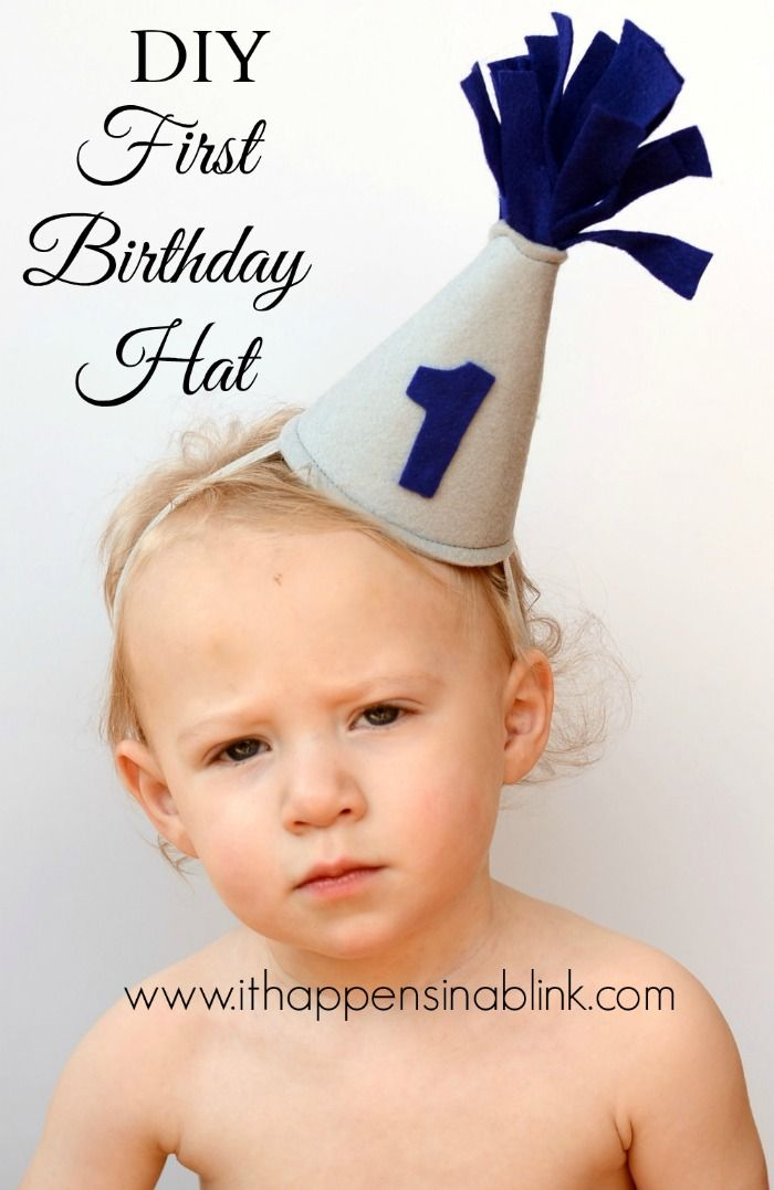 DIY Felt First Birthday Hat