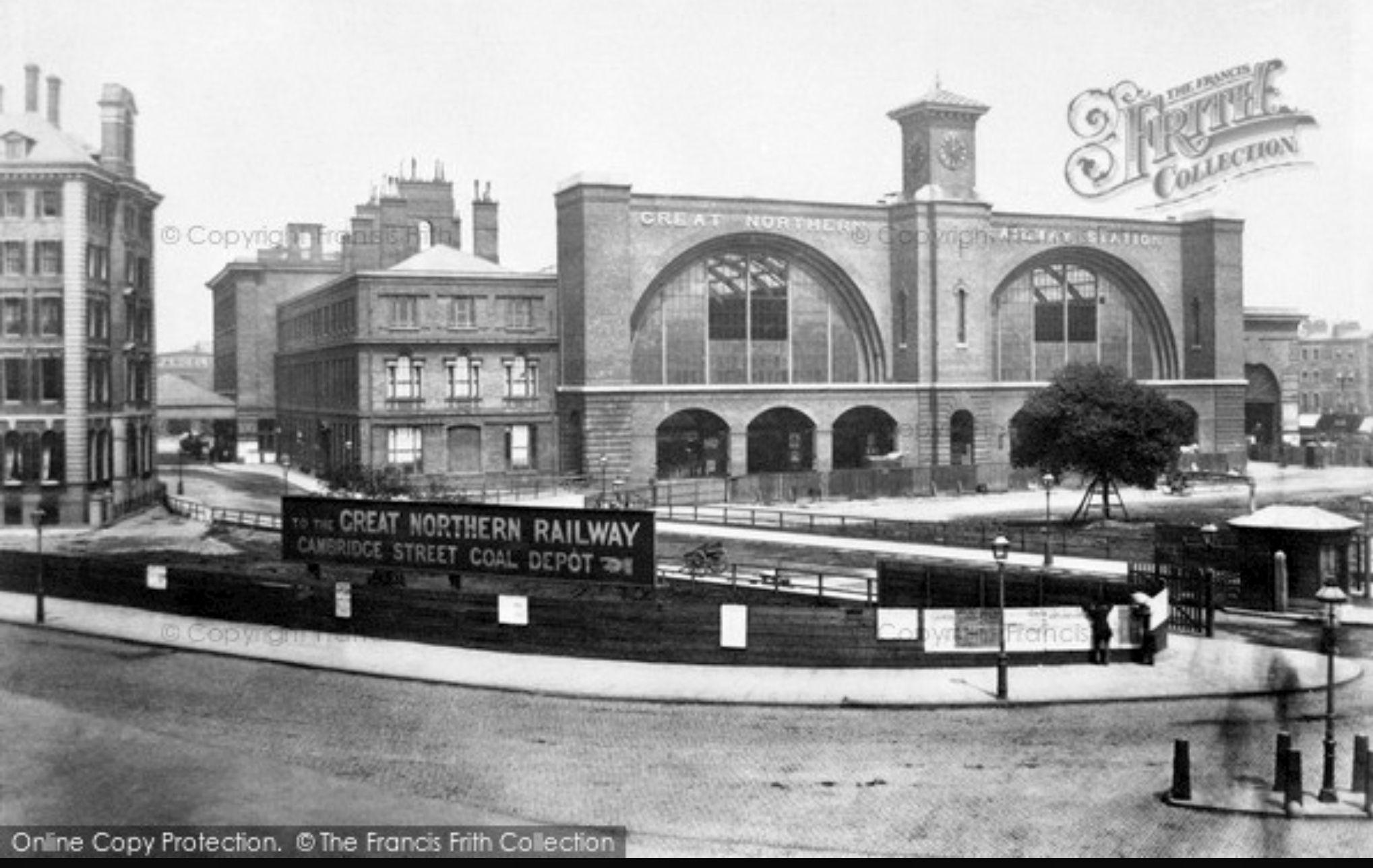 Kings Cross Station 1860 Kings cross station, London
