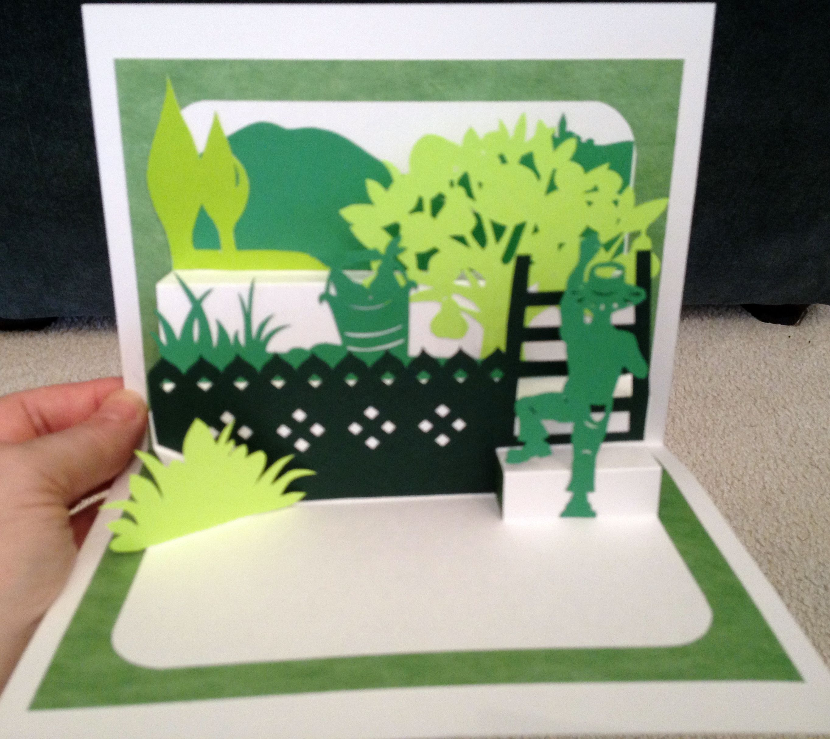 Fruit Picker Pop Up Card (Template From Cahier De Kirigami No 5 Special