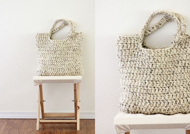 This crochet tote is fabulous. This is a pretty easy pattern even ...