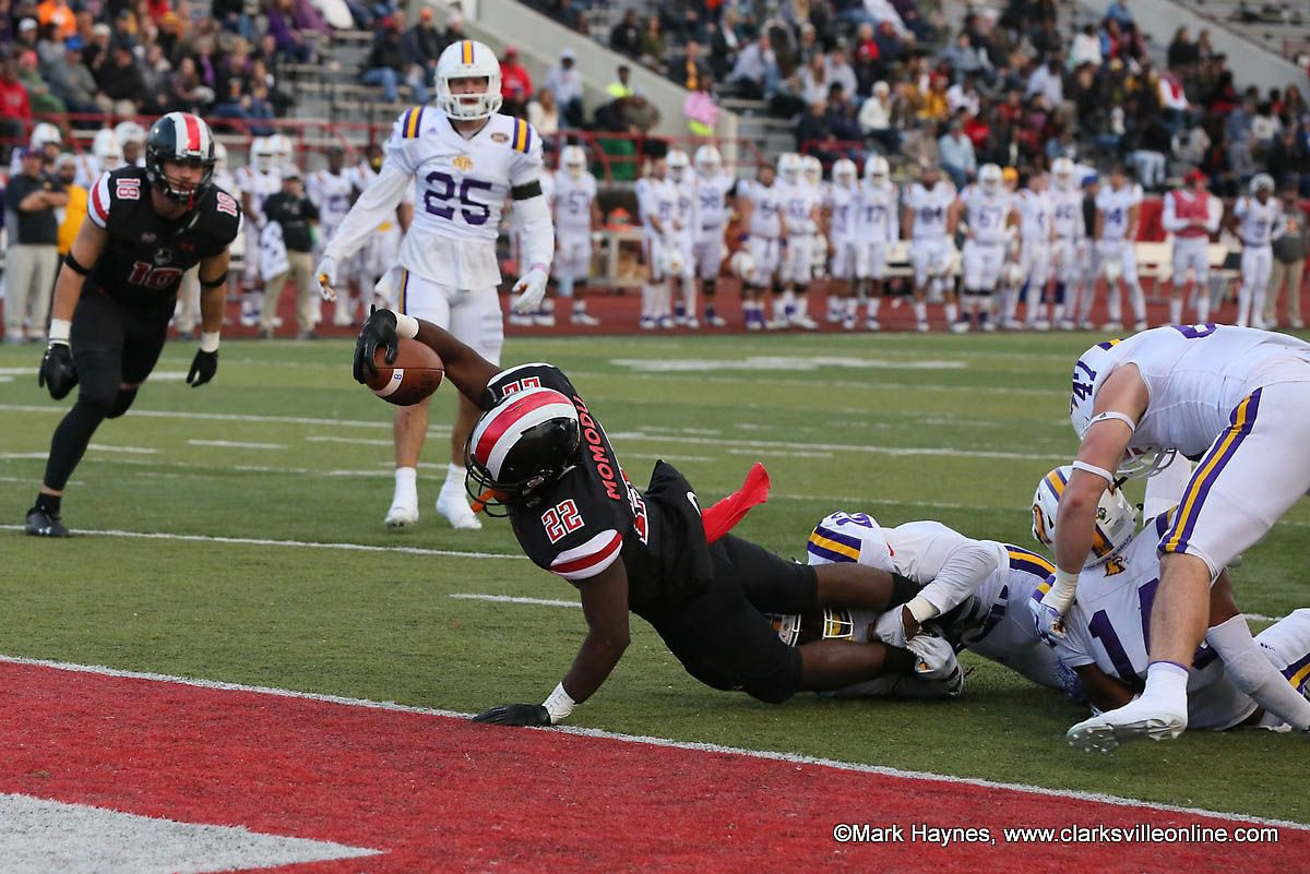 Apsu football runs over tennessee tech 4110 for