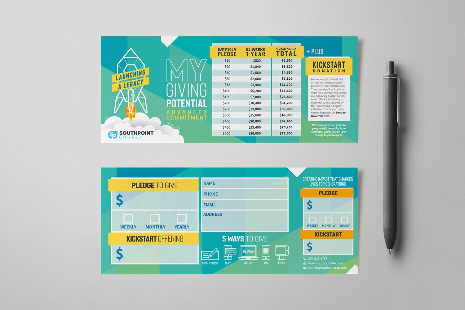 Pledge Cards Commitment Cards Church Campaign Design Inside Pledge Card Template For Churc Card Template Business Template Business Card Templates Download