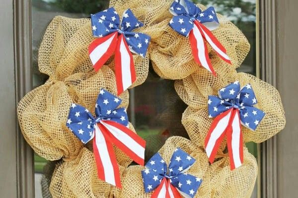 Double up wreath Presidents day and July 4th wreath.