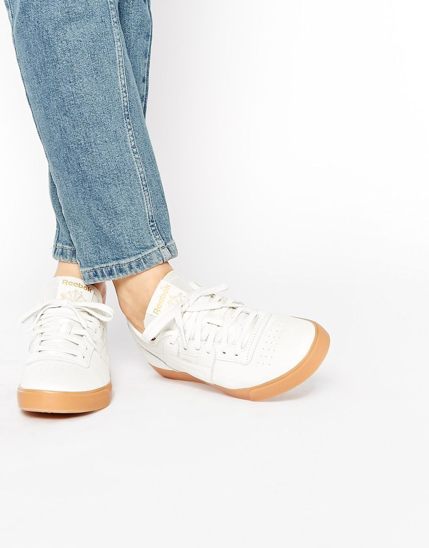 Shop Reebok Workout Low Clean Trainers at ASOS.