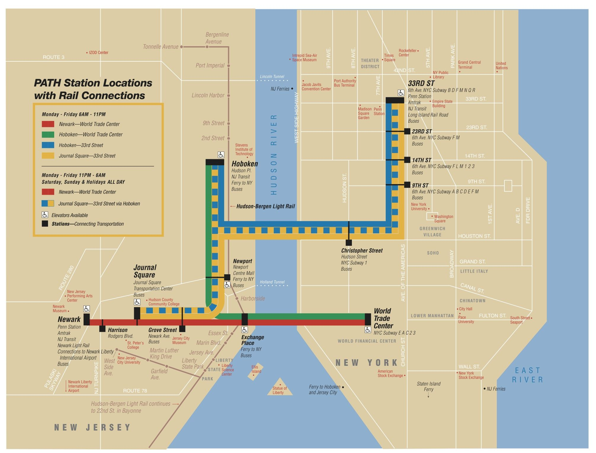 Subway Map From New Jersey To New York.Path Map Wanderlust Map Subway Map New York Subway