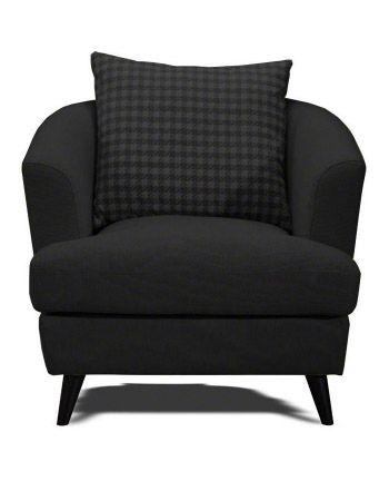 Stylish retro armchair in jet black. £199.00 #Modern, # ...