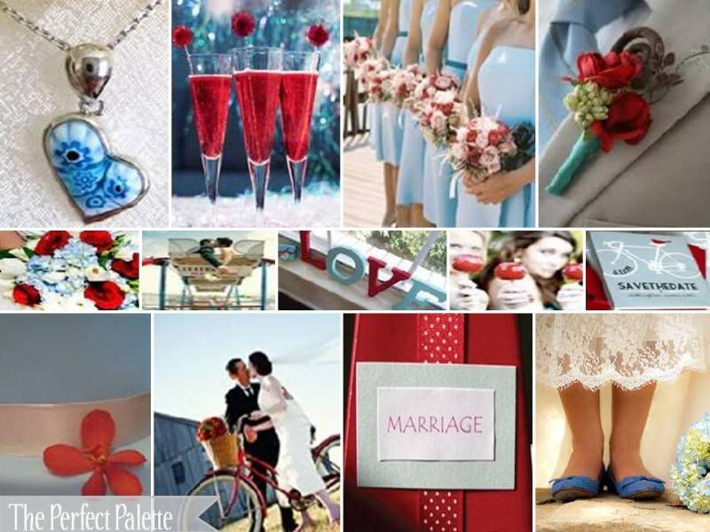 The Perfect Palette: Red   Baby blue weddings, Wedding ...