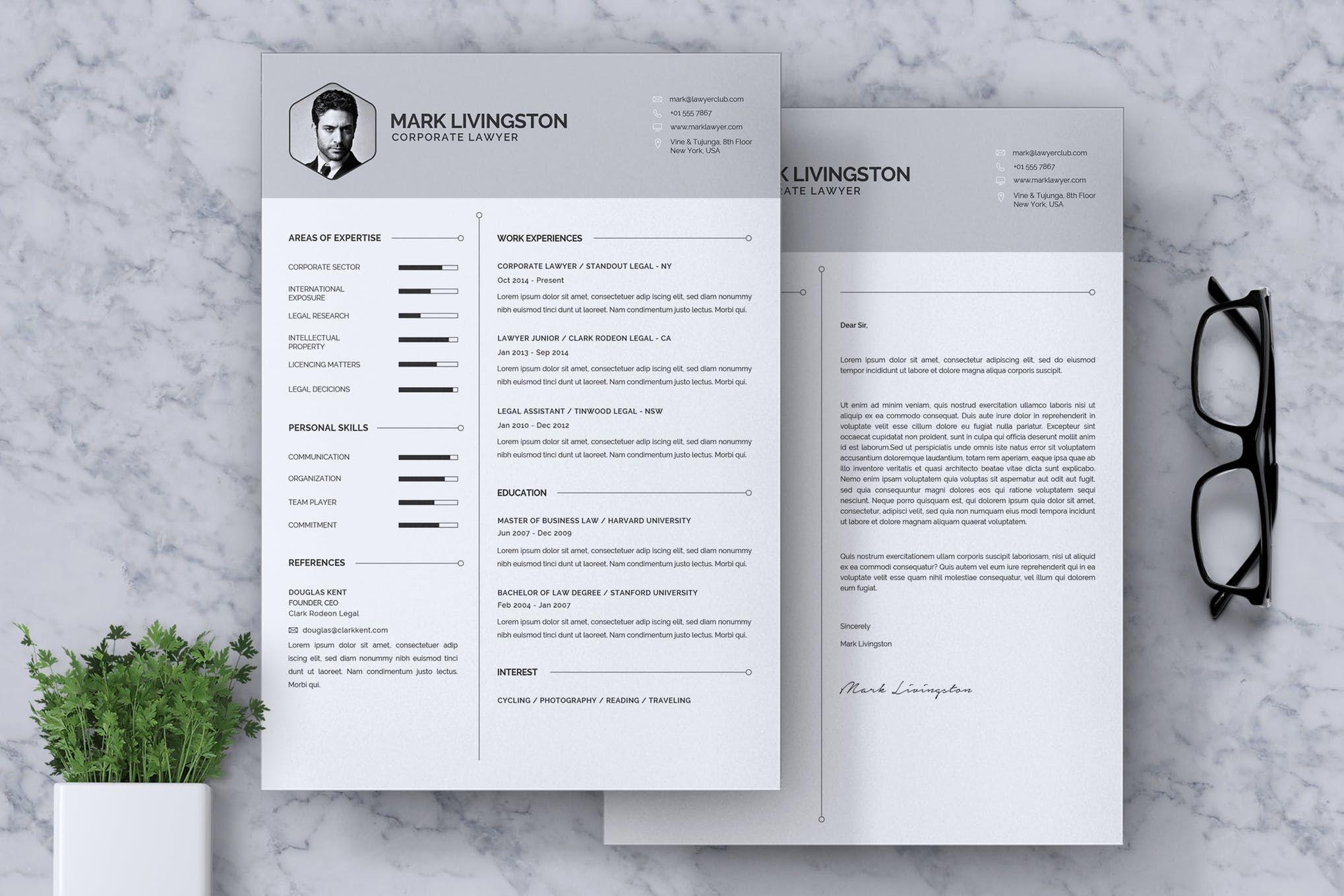 Corporate lawyer cv resume by rahardicreative on