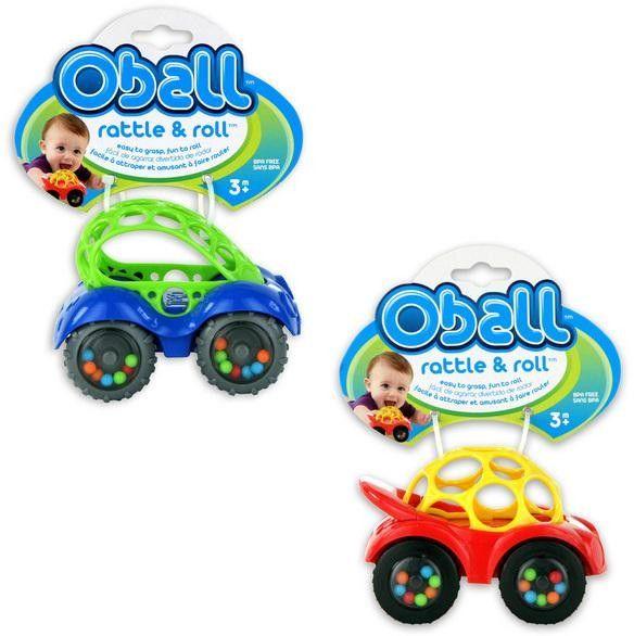 Oball - Hochet voiture 3m+ Jaune ou Bleu - Castello | Jeux et Jouets