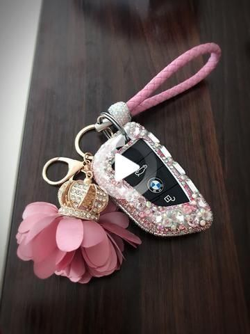 Photo of Bling Car Key Holder with Rhinestones for New BMW X5 X1 X6 525 530 730 740 Series